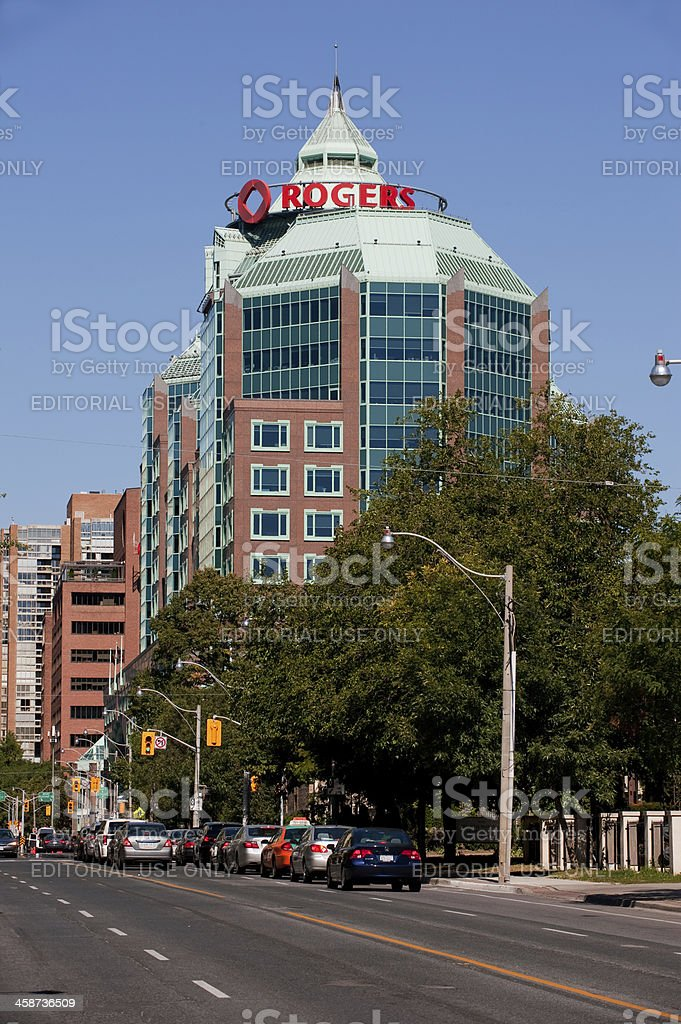 Rogers head office in Toronto stock photo