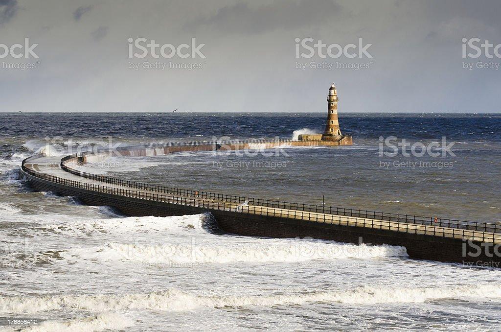 Roker Lighthouse stock photo