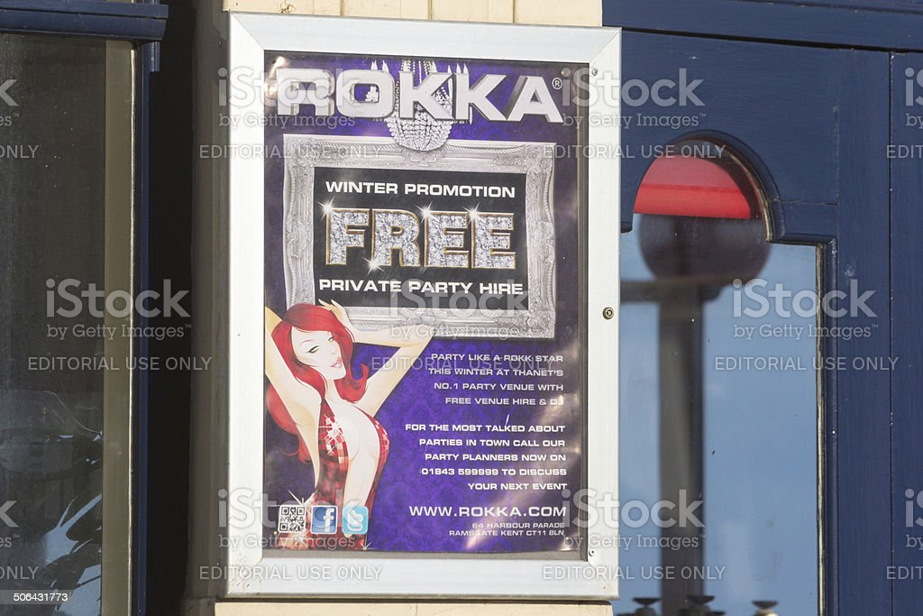 Rokka in Margate, England royalty-free stock photo