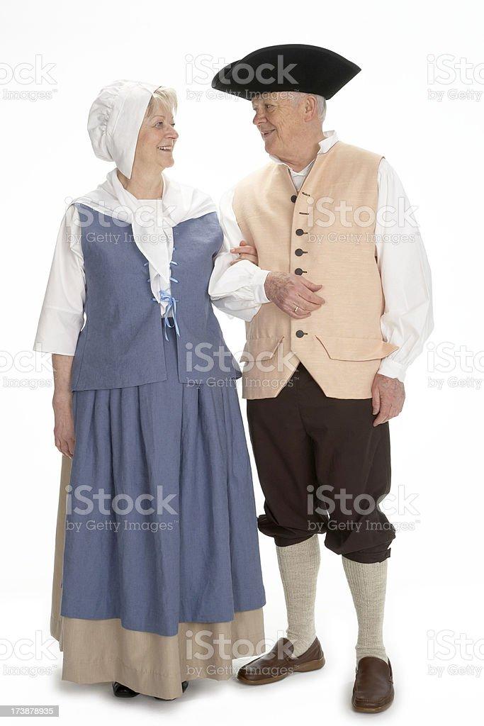 Rokoko mature couple royalty-free stock photo