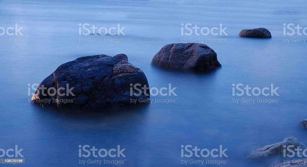 Roks in the sea stock photo