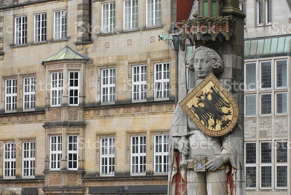 Roland in Bremen stock photo