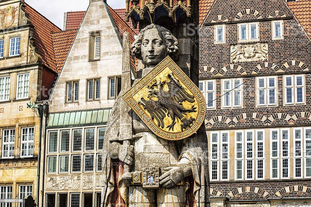 Roland Statue in Bremen, Germany stock photo
