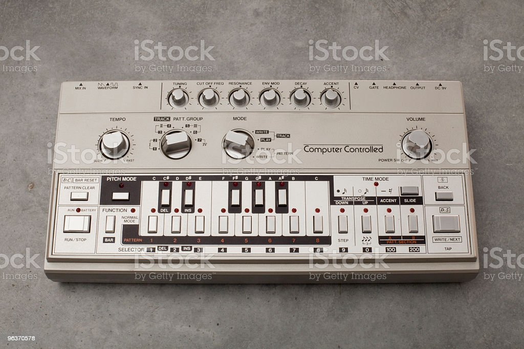 Roland TB-303 bass-line synthesizer stock photo