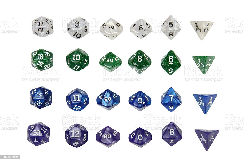 Role Play Dice stock photo