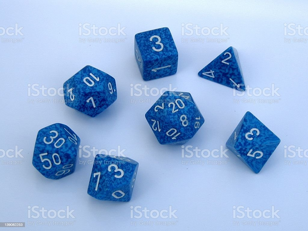 Role Playing Dice royalty-free stock photo