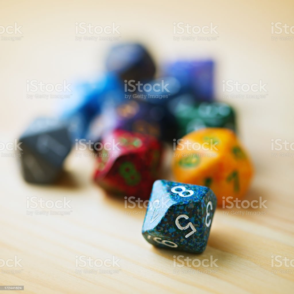 Role-playing dices royalty-free stock photo
