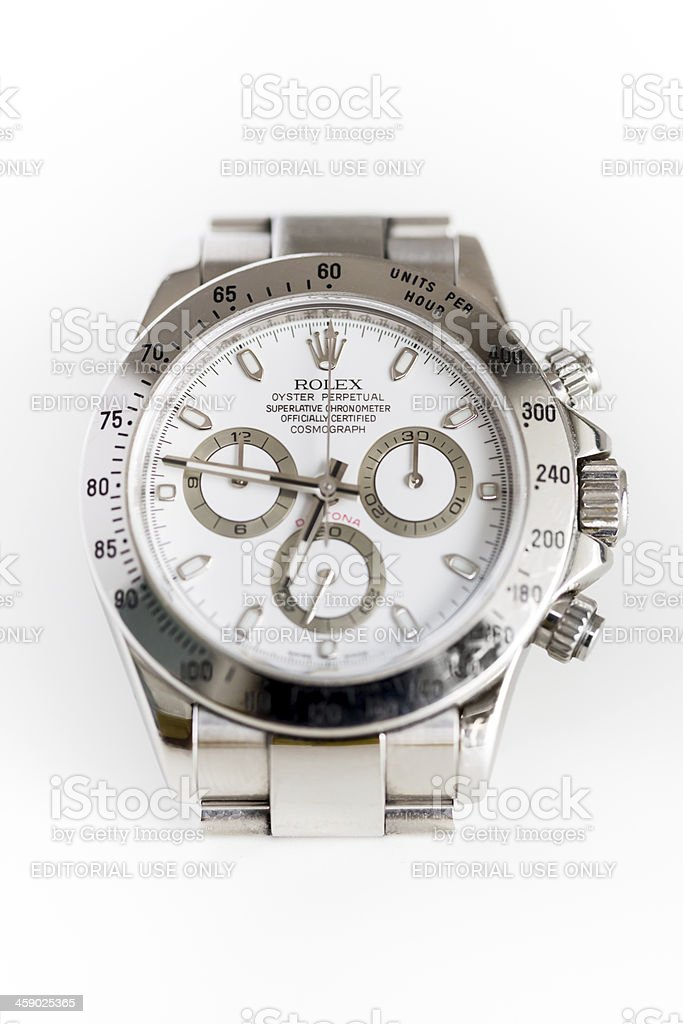 Rolex Daytona Cosmograph Oyster Perpetual White Steel stock photo