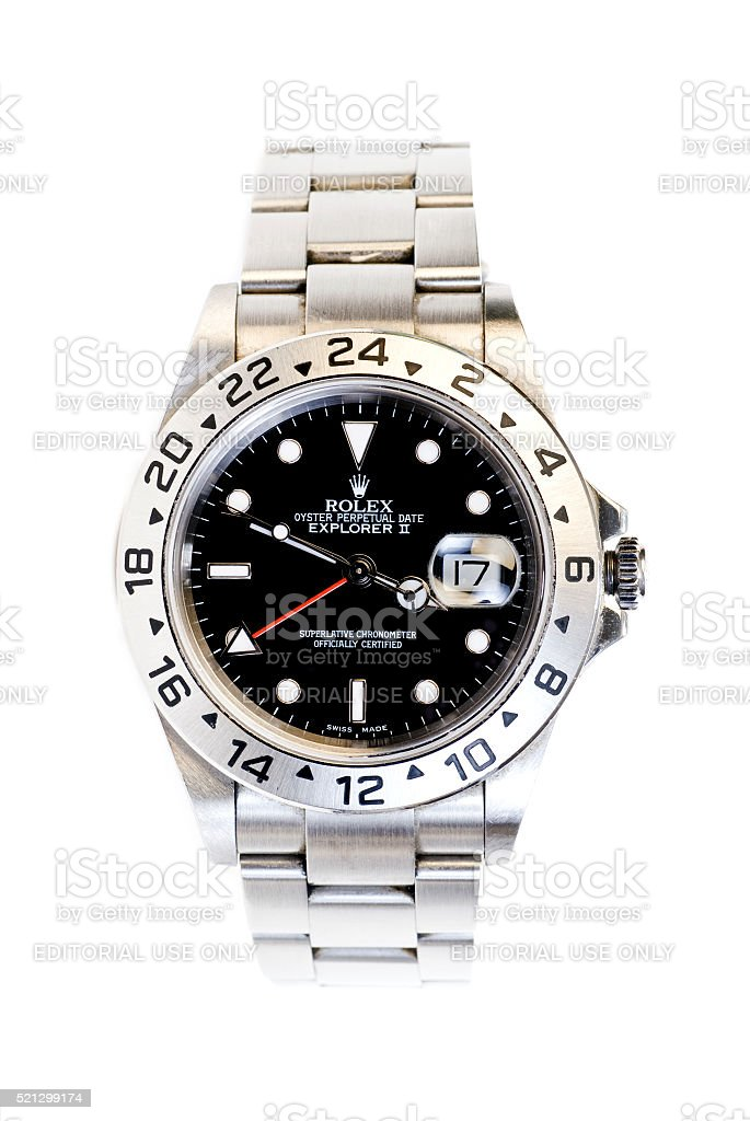 Rolex Explorer II Wristwatch stock photo