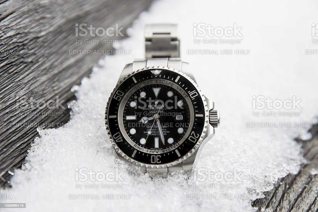 Rolex Seadweller DEEPSEA stock photo