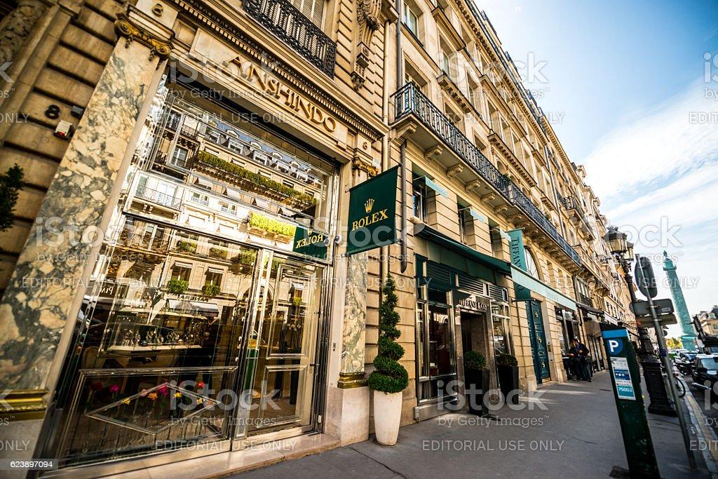 Rolex store in Paris, France stock photo