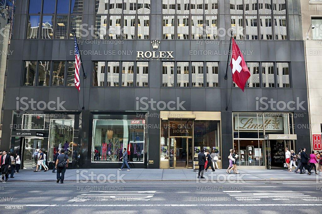 Rolex Store New York City royalty-free stock photo