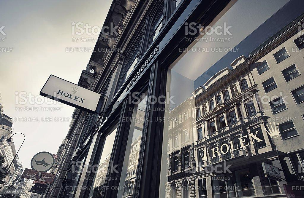 Rolex almacenar foto de stock libre de derechos
