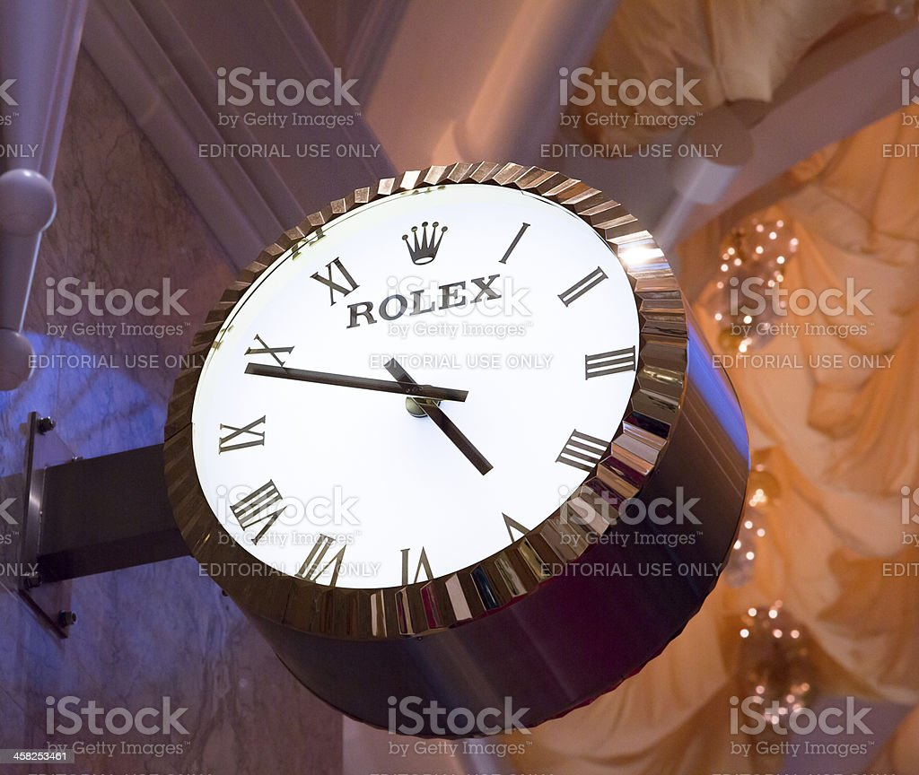 Rolex Store Sign royalty-free stock photo