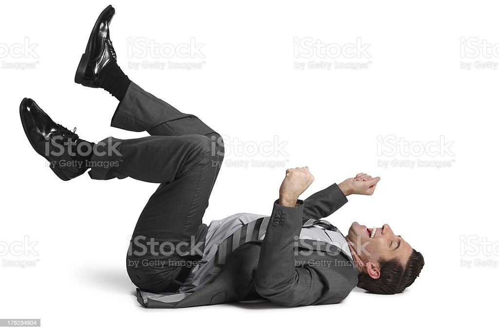 Roliing On the Floor With Laughter royalty-free stock photo