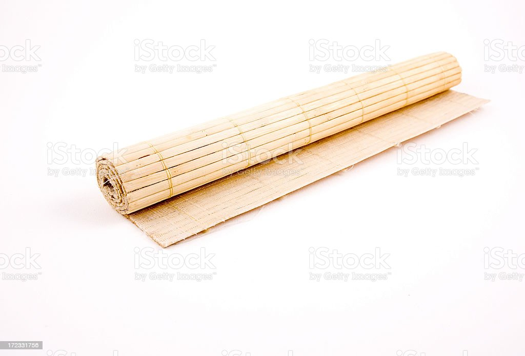 Roll bamboo mat royalty-free stock photo