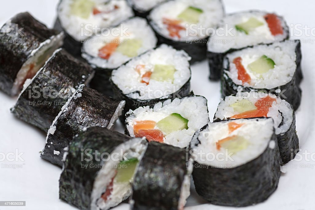 roll closeup on white background royalty-free stock photo