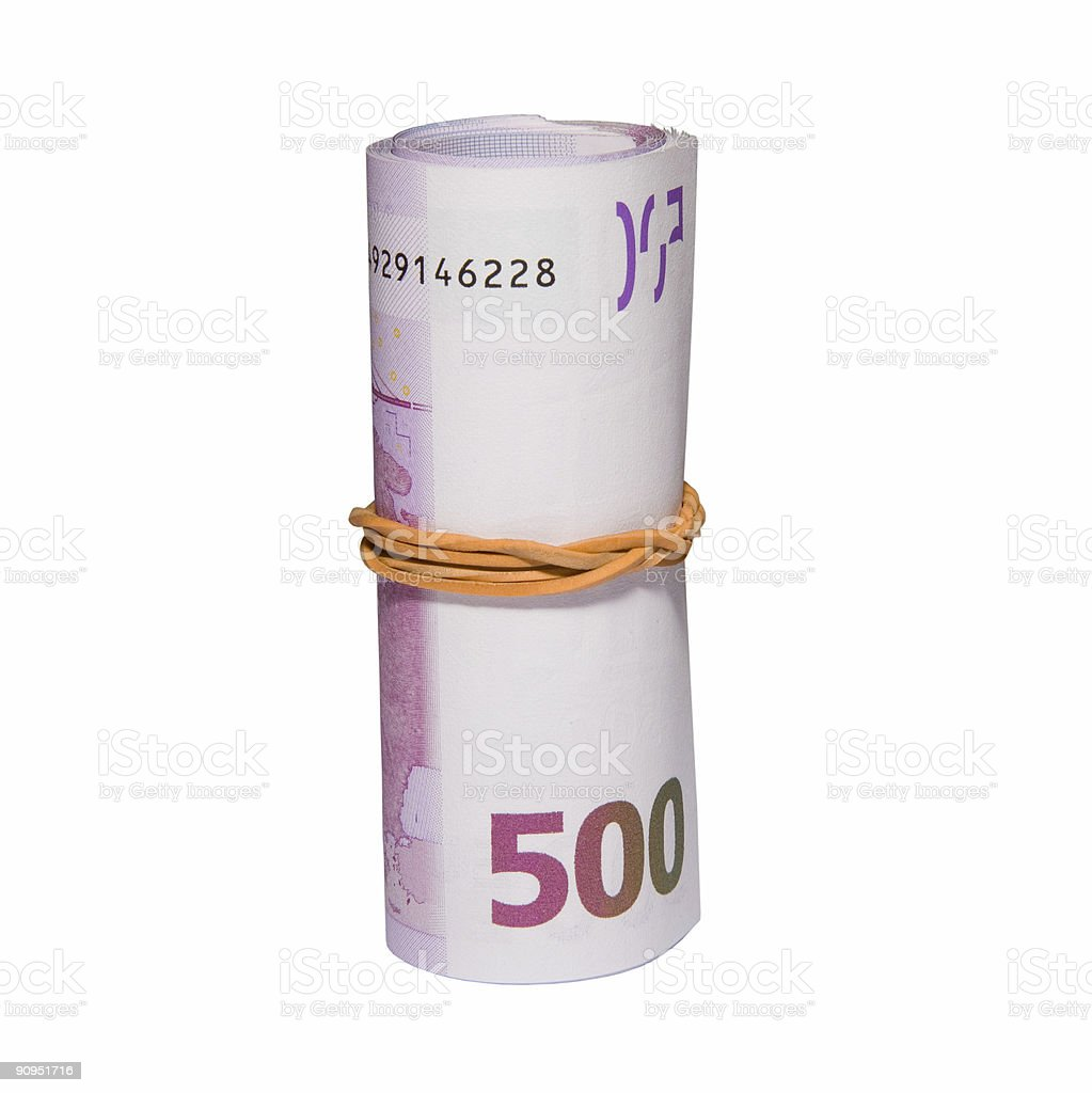 roll from euro banknotes royalty-free stock photo