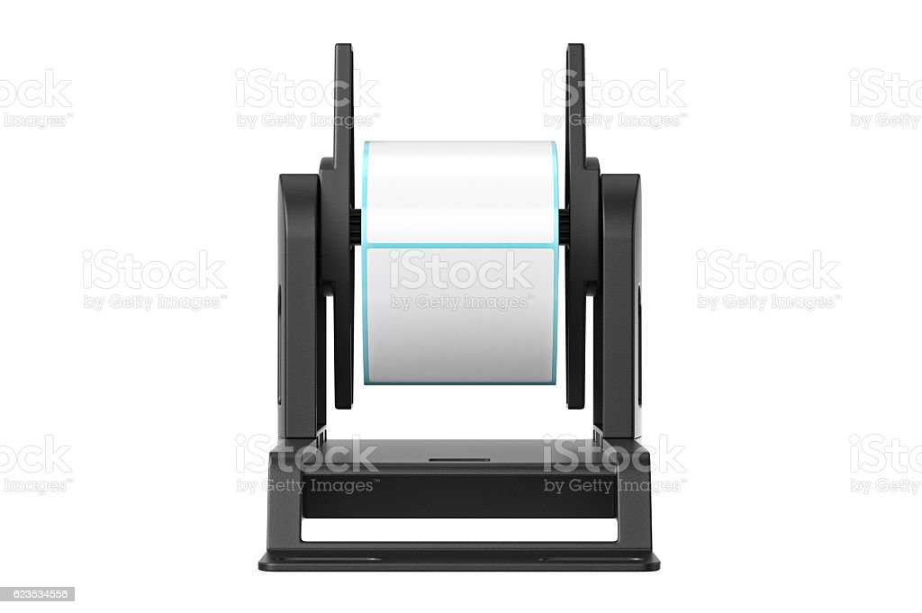 Roll holder, front view stock photo