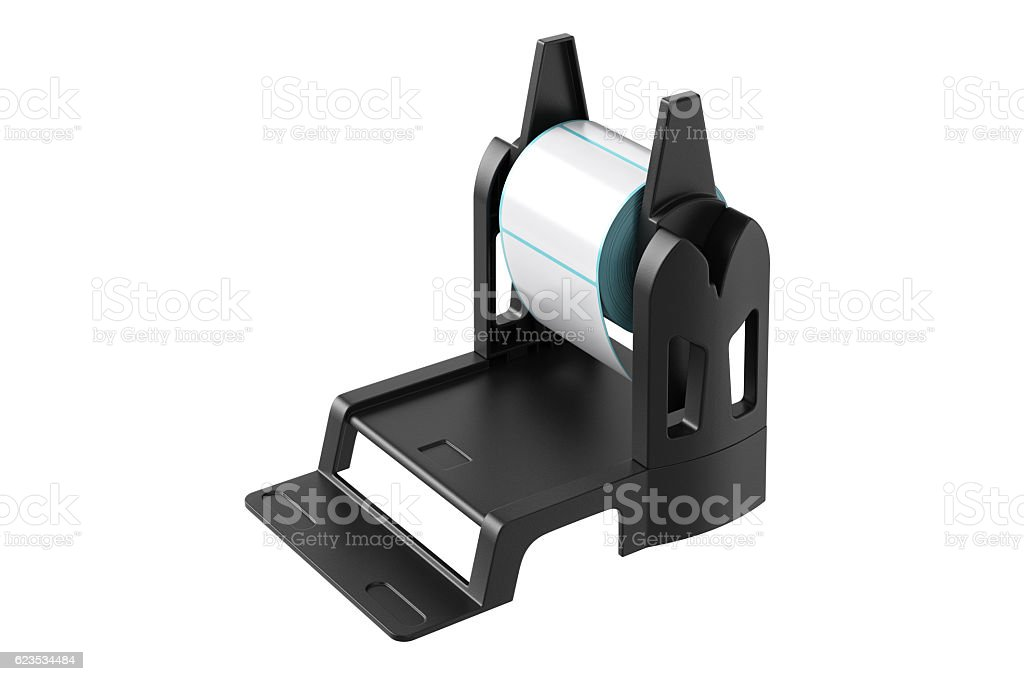Roll holder sticker stock photo