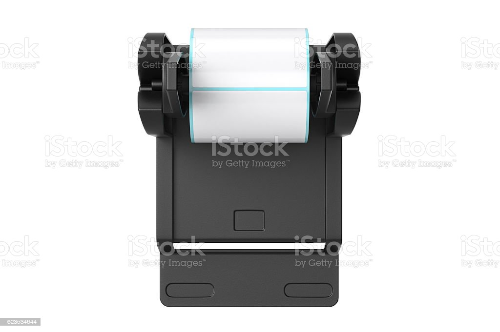 Roll holder, top view stock photo
