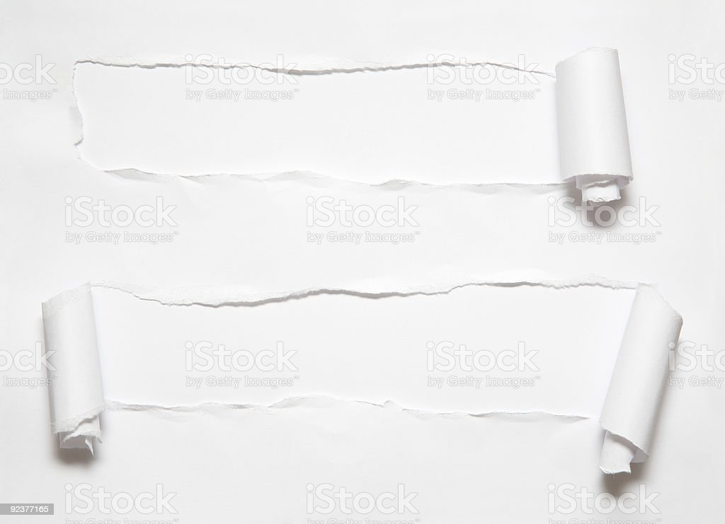 roll hole on paper stock photo