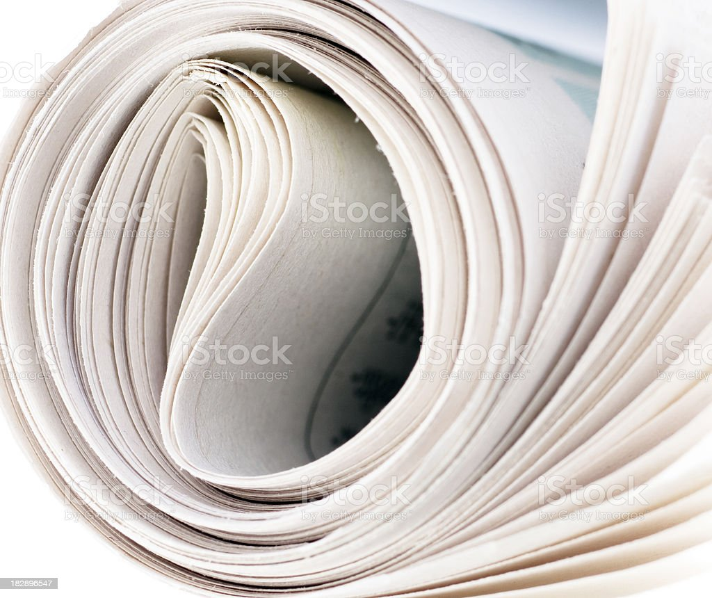 roll newspaper stock photo