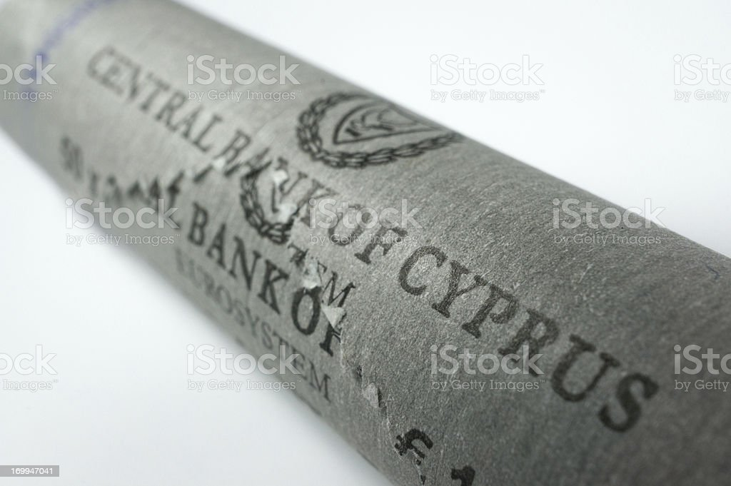 Roll of 2 Euro Cent royalty-free stock photo