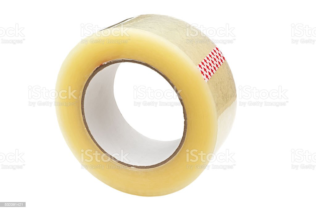 Roll of adhesive tape. stock photo