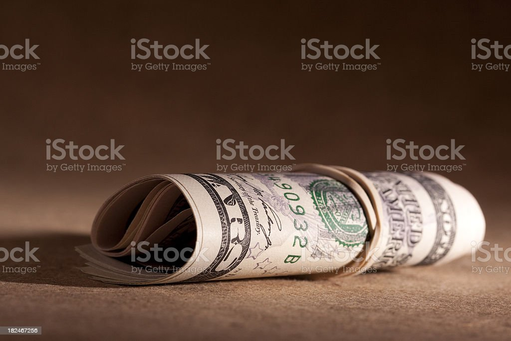 Roll of American money (Financial Series) stock photo