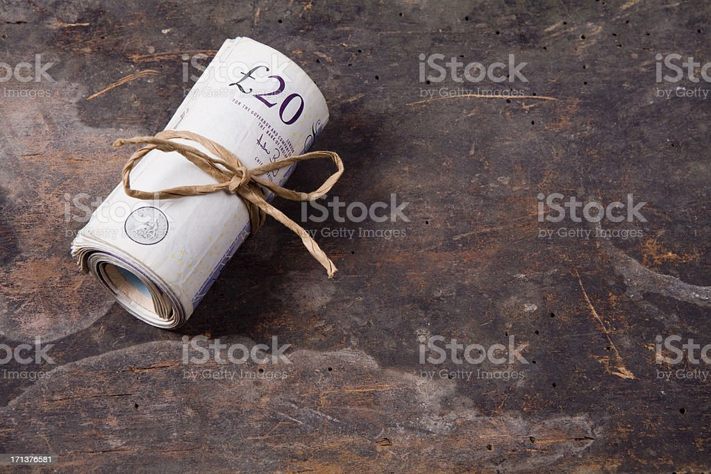 Roll of bank notes stock photo