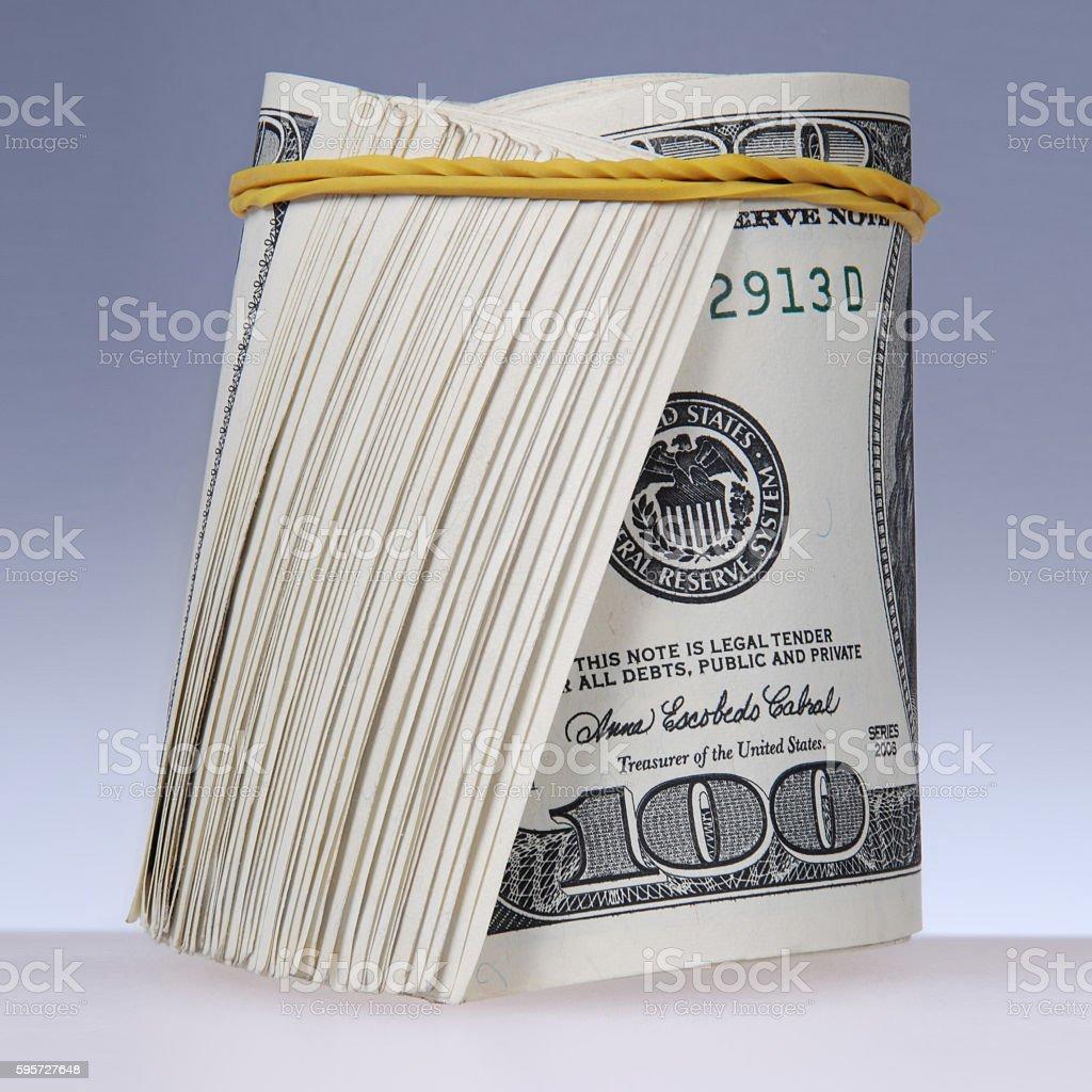 roll of bills stock photo