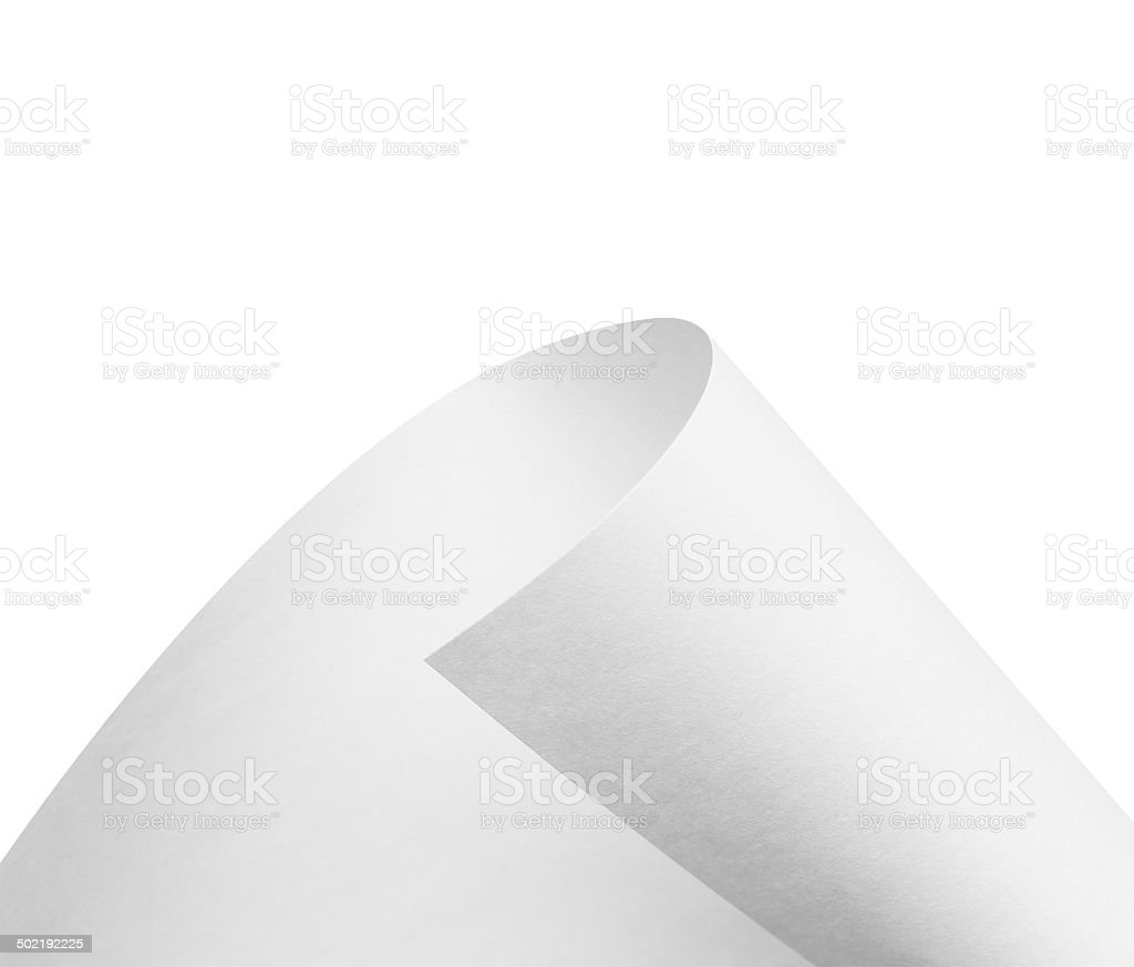 Roll of blank paper stock photo