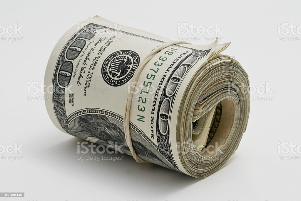 Roll of cash. stock photo