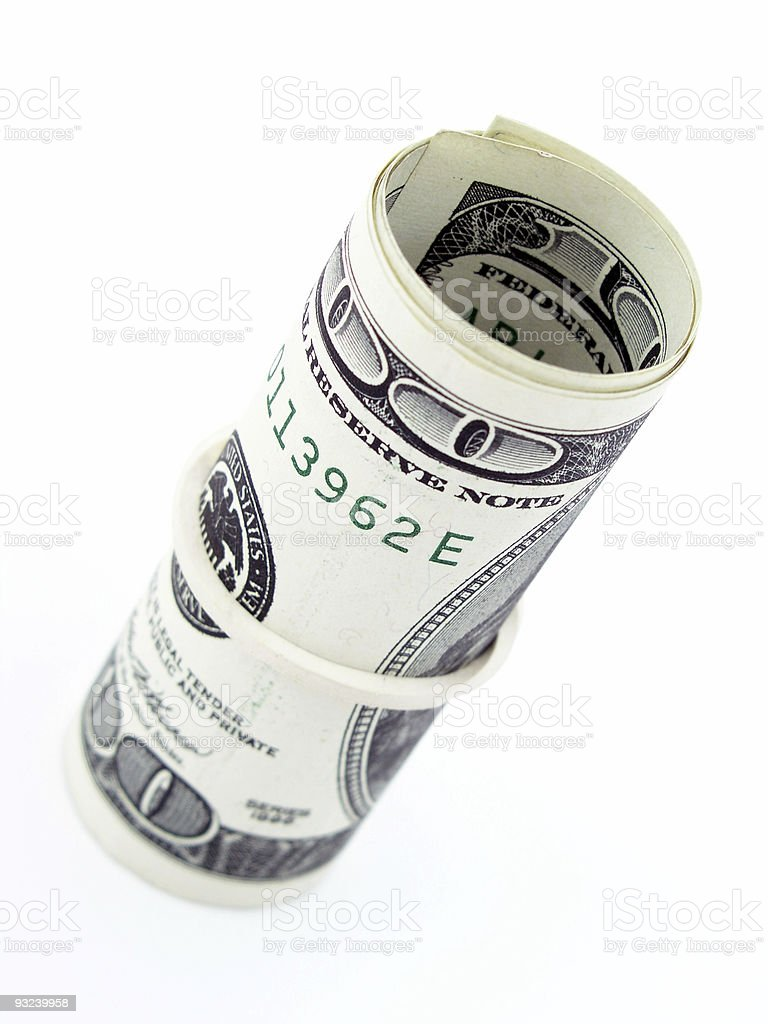 Roll of Dollar Bills royalty-free stock photo
