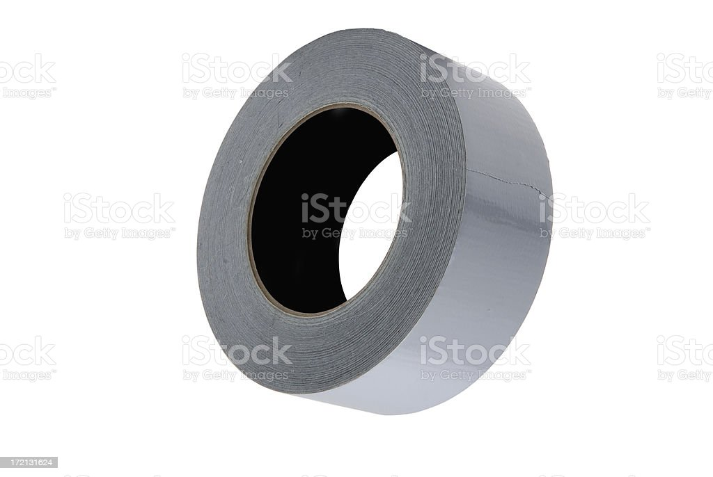 Roll of Duct Tape isolated with clipping paths royalty-free stock photo