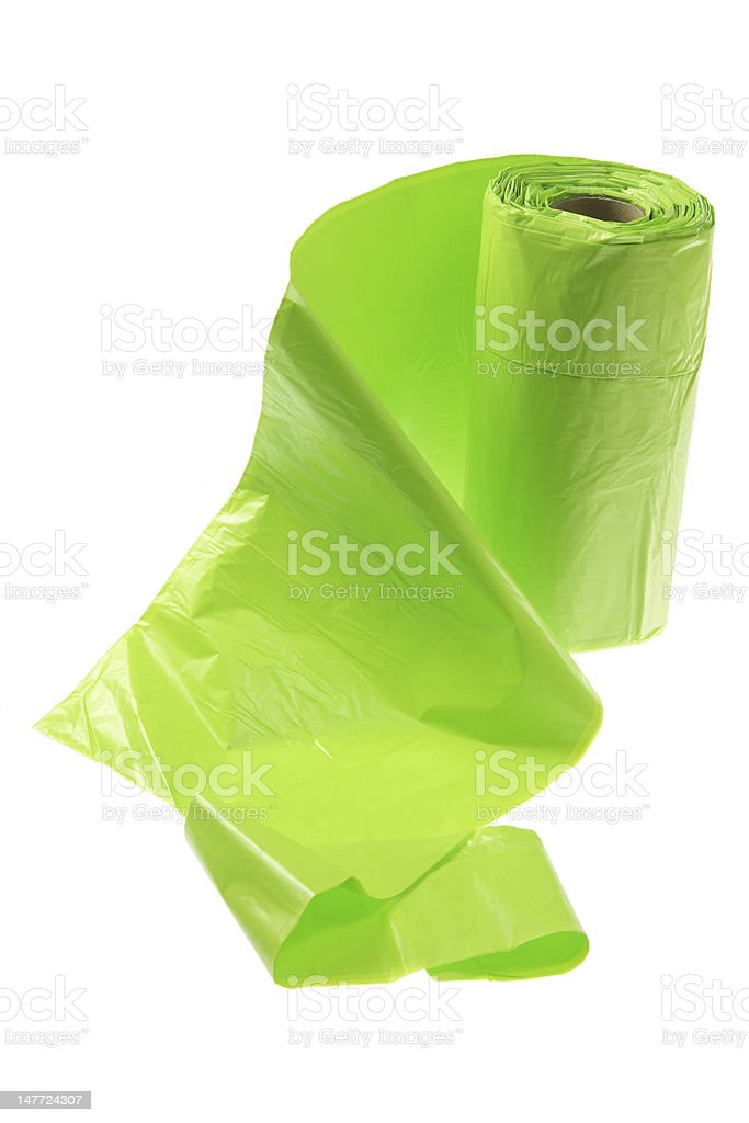 Roll of Garbage Bags royalty-free stock photo