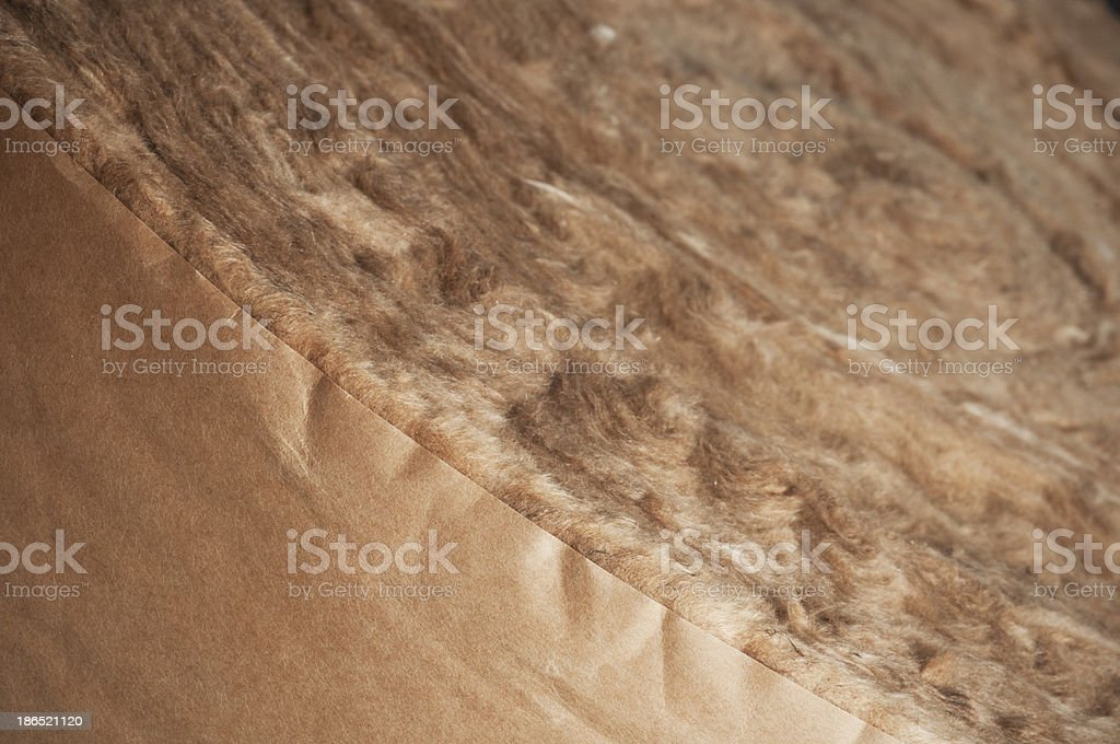 Roll of Glass Wool, Insulation Materials stock photo