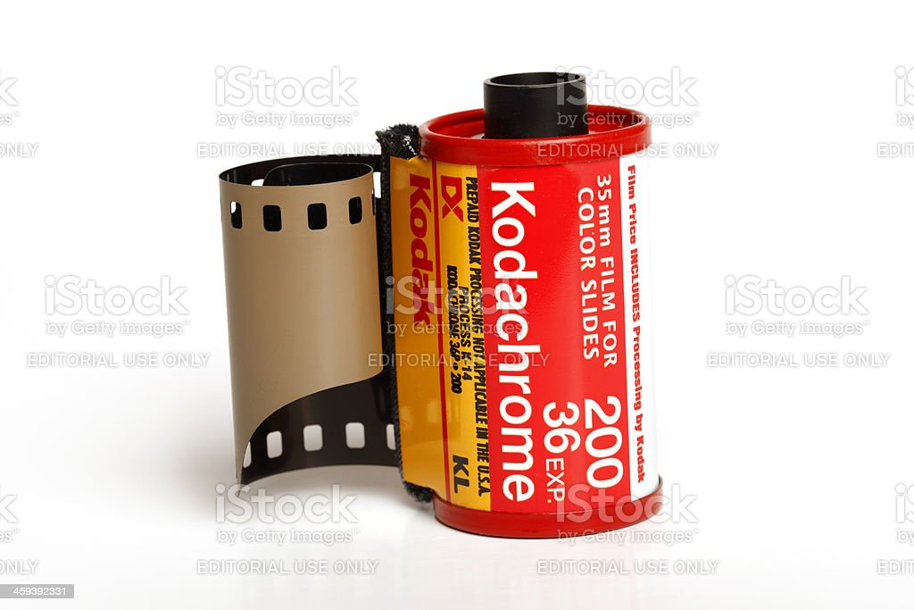 Roll of Kodachrome 200 stock photo
