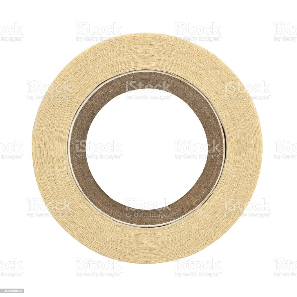 roll of masking tape on white stock photo