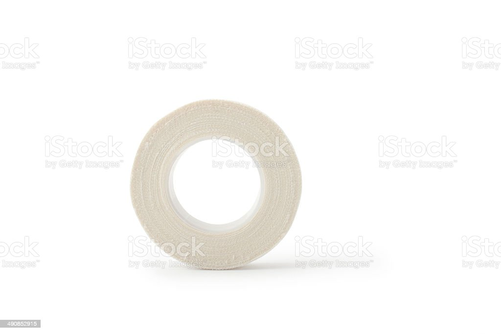 roll of medical sticking plaster stock photo