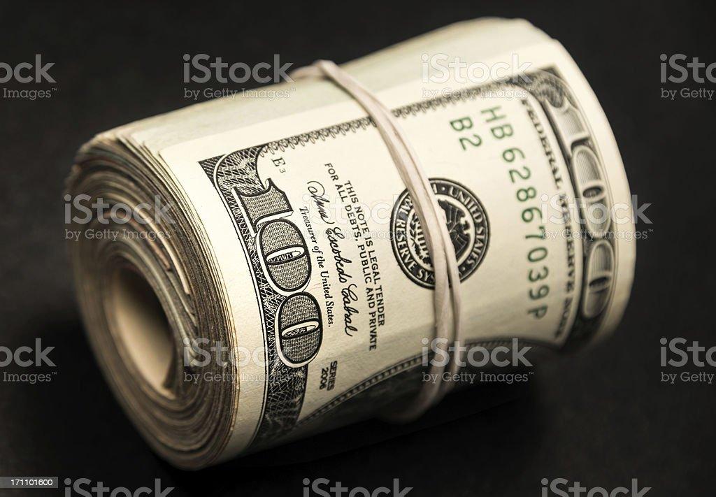 Roll of Money stock photo