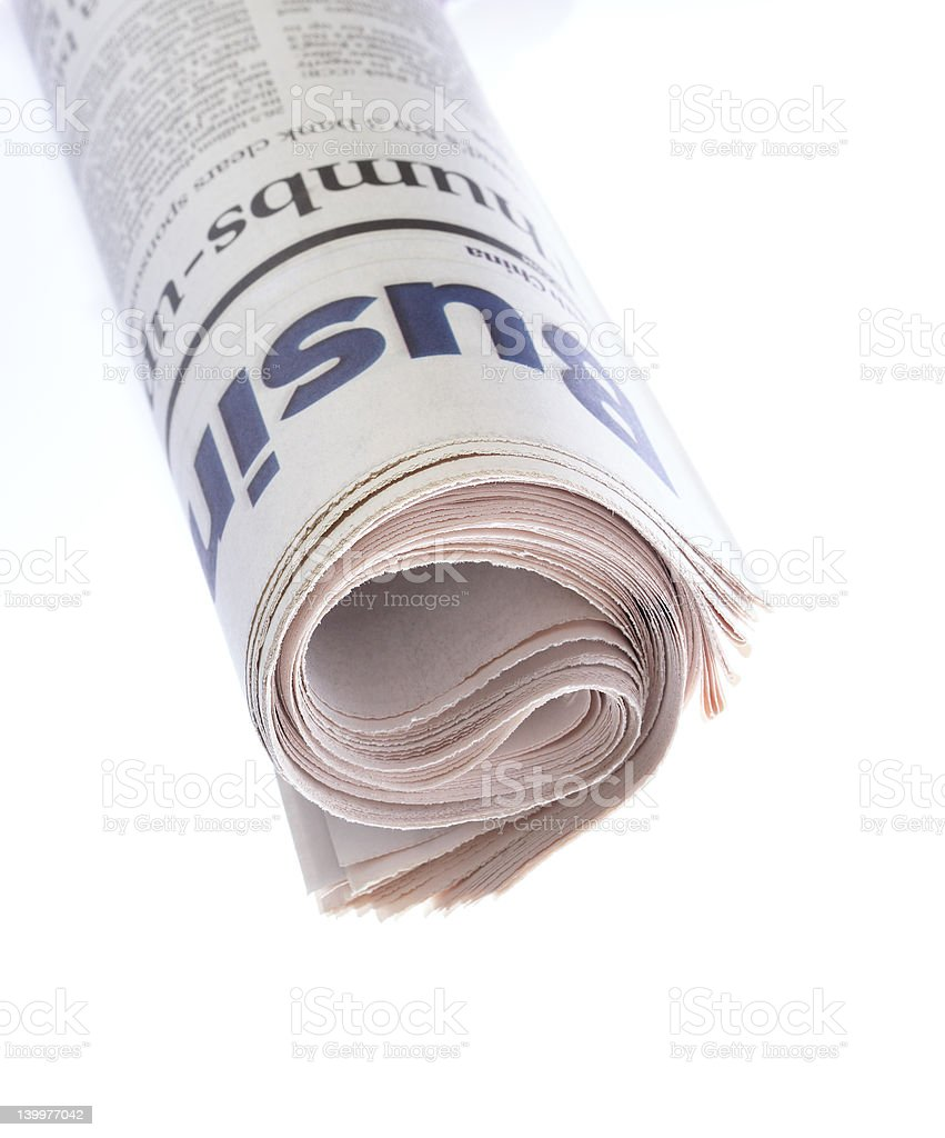 Roll of Newspaper royalty-free stock photo
