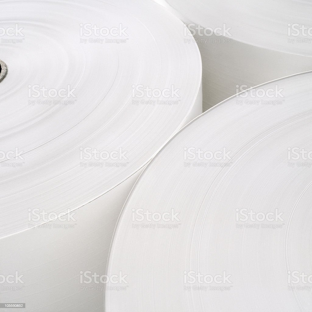 Roll of pape in white color. royalty-free stock photo