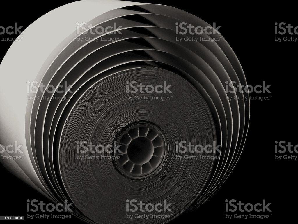 roll of paper royalty-free stock photo