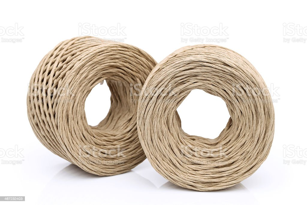 Roll of paper string stock photo