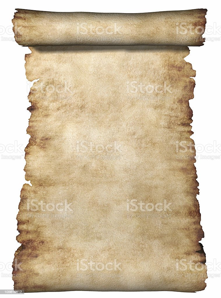 Roll Of Parchment royalty-free stock photo
