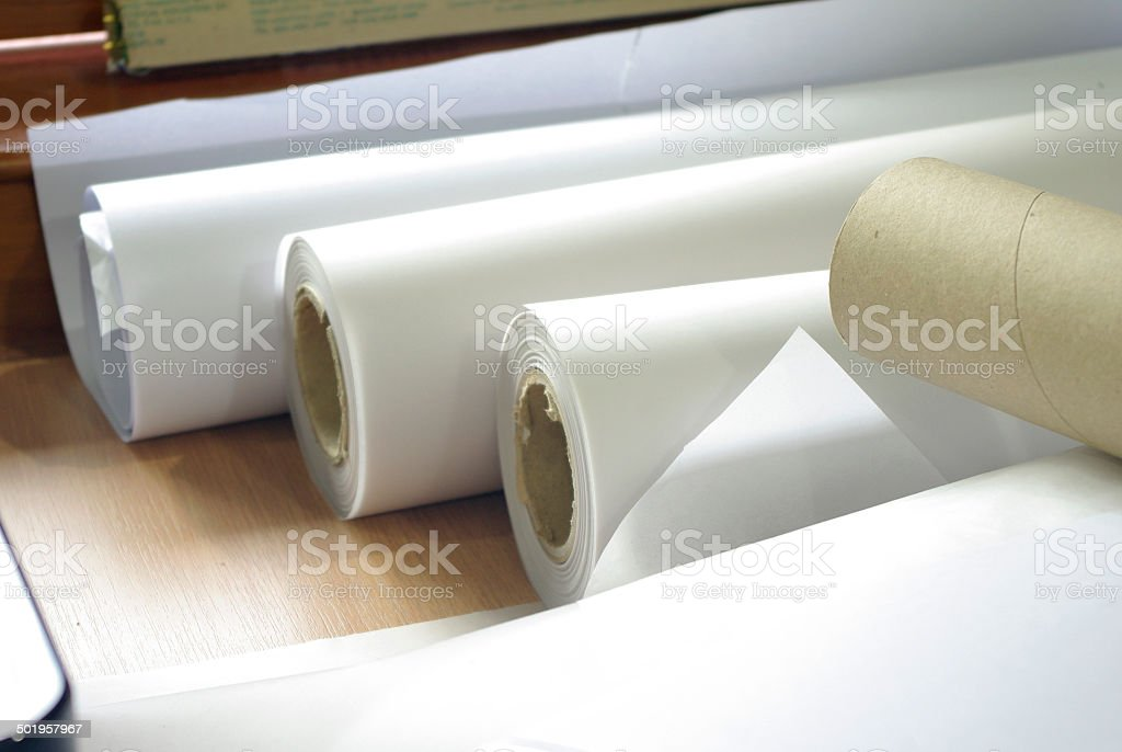 roll of plotter paper for printing royalty-free stock photo