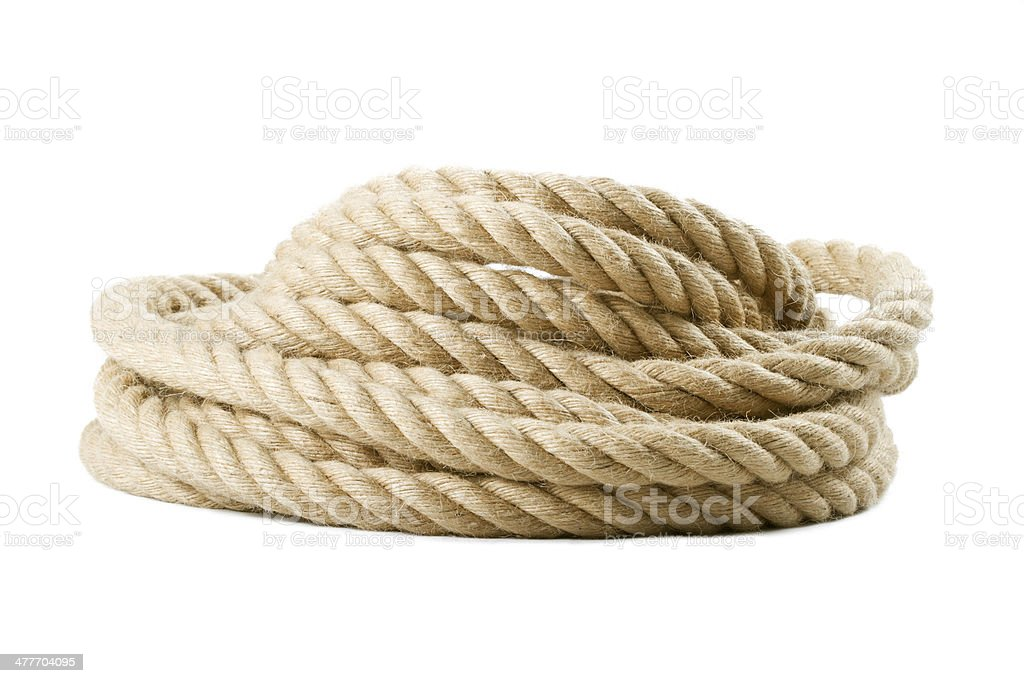 roll of rope stock photo
