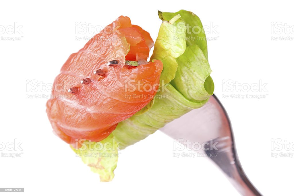 Roll of salmon royalty-free stock photo